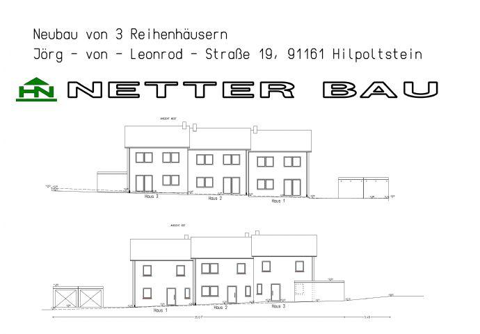 Neubau eines Reihenmittelhauses in Hilpoltstein
