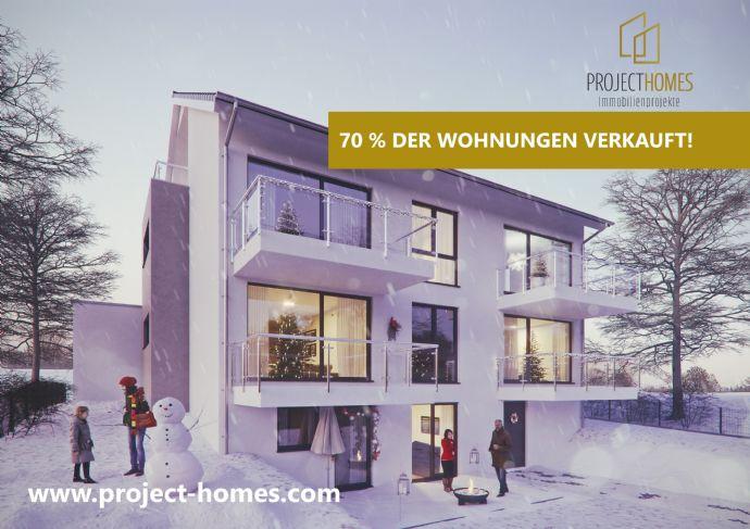 ZUHAUSE SEIN - Familienfreundliche und moderne 3-Zimmer-Neubau-Wohnung mit Balkon