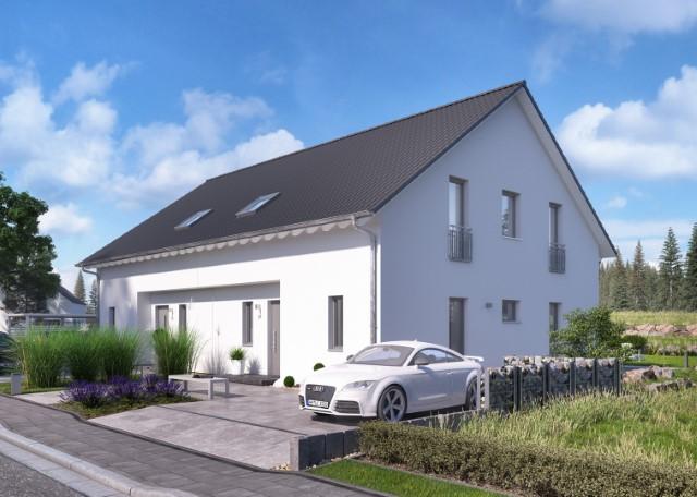 Bauen Sie eine Doppelhaushälft mit dem Ausbauhausmarktführer massa haus