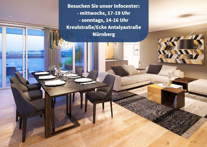 Ruhiges Wohnen ganz nah am Puls der Stadt! 3-Zimmer-Wohnung mit modernem Grundriss + Loggia
