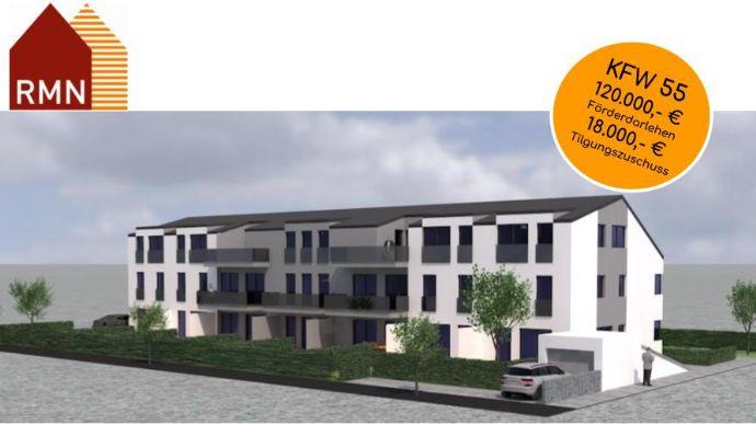 2 Zimmer Dachgeschosswohnung mit Süd-Dachterrasse KfW55