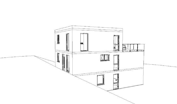 Architektenhaus im Bauhausstil mit Fernblick