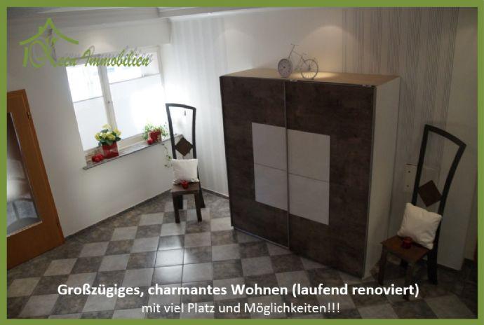 Großzügiges, charmantes Wohnen (laufend renoviert) mit viel Platz und Möglichkeiten!