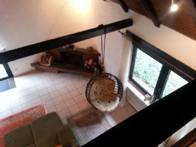 Aussicht von der Galerie ins Wohnzimmer