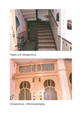 Treppe zum 1.OG, Wohnungstür