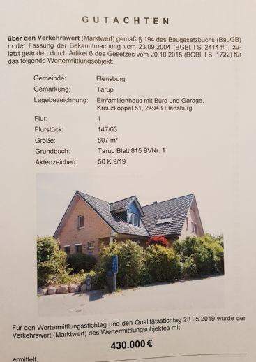 Haus in Flensburg, Stadtteil Tarup Versteigerungstermin 14.02.2020