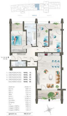 Grundriss Wohnung - 1.OG bis DG