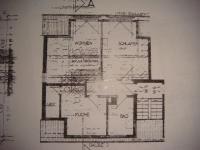 Grundriss der 2 Zimmerwohnungen