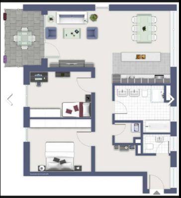 Helle Penthouse-Wohnung mit 100m², Balkon, Einbauküche u. Tiefgaragenstellplatz in S-Feuerbach