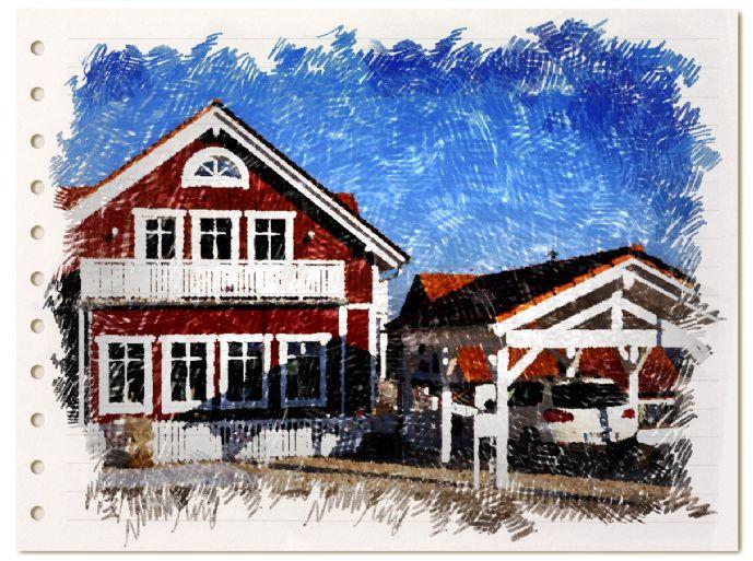 Einmaliges Haus im Schweden-Stil, schön und nachhaltig auf großem Grundstück mit unverbaubarer Südhang-Lage!