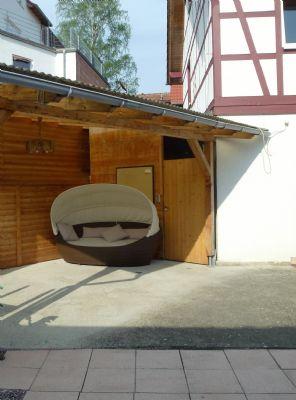 Terrasse mit überdachtem Sitzplatz