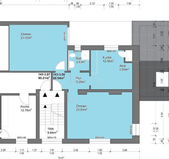 WG-geeignete 2-Zimmer Wohnung in Zentrumsnähe