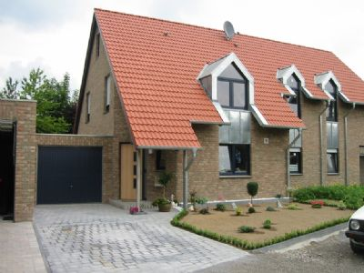 Doppelhaushälfte mit Vollklinkerfassade