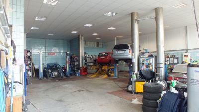 Vermietete Kfz - Werkstatt