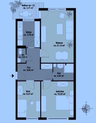 Helle, möblierte 3-Zimmer-Wohnung in München-Aubing ab 01.04.2020 verfügbar