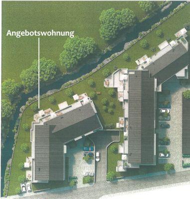 animiertes Luftbild mit Lage der Wohnung