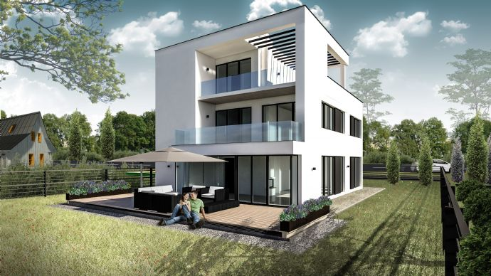 exklusive Architekten Villa mit 6 Zimmern über 3 Etagen in Falkensee bei Berlin Spandau von privat zu verkaufen!