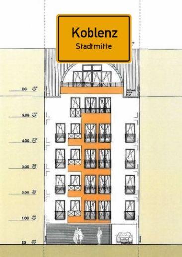 Über den Dächern von Koblenz, 7./8. Geschoss, mitten in der Stadt. Ein Objekt, das seinesgleichen sucht.