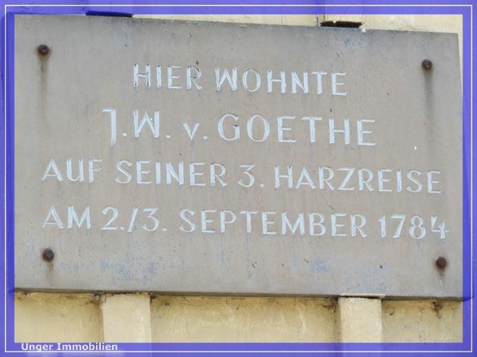 Wo einst schon Johann Wolfgang von Goethe schlief...!