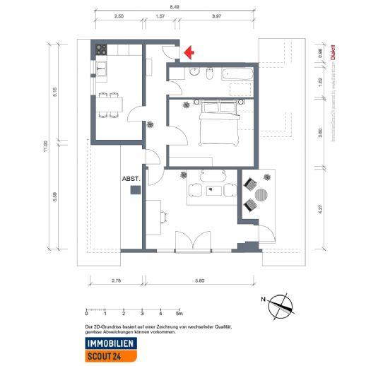 Moderne, helle 2,5 Zimmer Wohnung , Nähe Westfalenweg