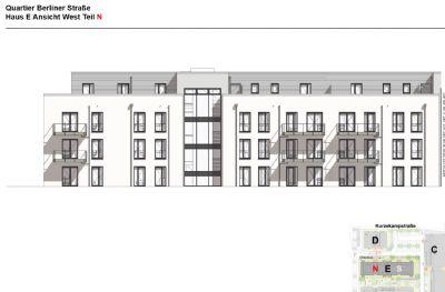 Neubau-Erstbezug: 3-Zimmer-Wohnung mit Terrasse im Quartier Berliner Straße