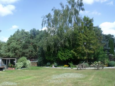 Blick zum Garten und Kläranlage