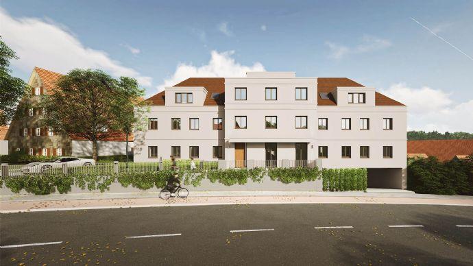 Kapitalanlage oder Eigenheim? - Lichtdurchflutete 3-Zimmer-DG-Wohnung, sehr schöner Balkon & Tageslichtbad - NEUBAU Schwabach-Auen - 65% bereits ver
