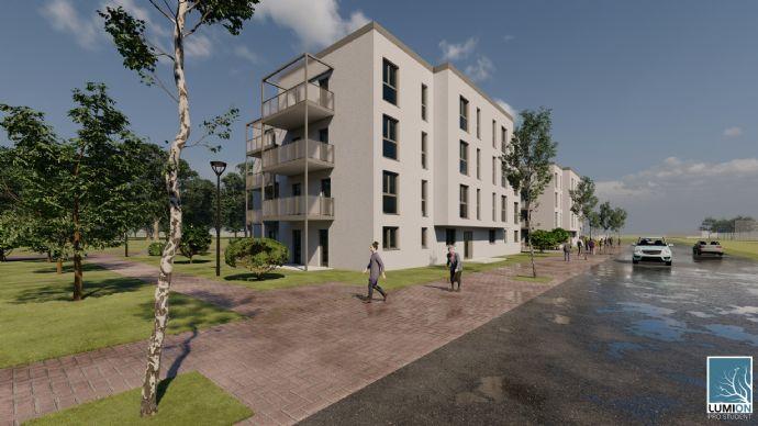 Neu zu errichtende 3/4 Zimmerwohnung ( KfW 55 Bauweise  und Balkon ), im Elisenpark, zu verkaufen