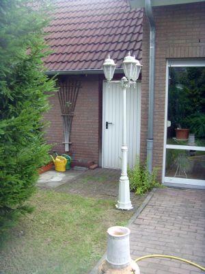 Garagentür Gartenseite