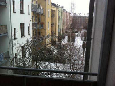 Blick vom Balkon Winter