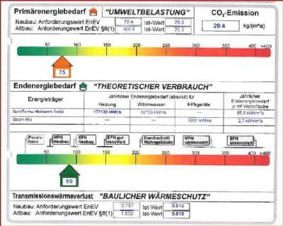Auszug Energieausweis