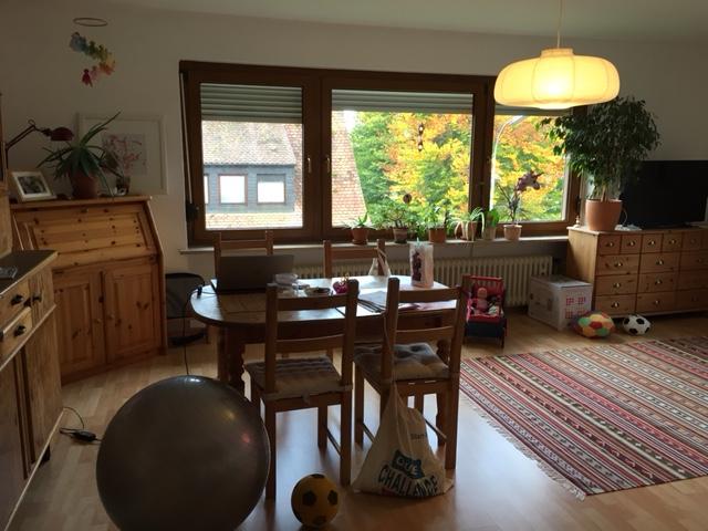 3-zi/laminat/bad m. fenster/ebk gegen ablÖse/garten/garage, Wohnzimmer