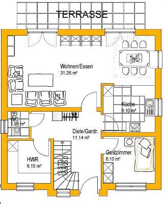Beispielgrundriss Erdgeschoss
