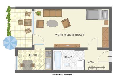 ... Reutlingen - Lichtdurchflutete Maisonette-Wohnung, ideal für Single
