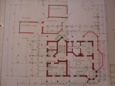 Grundriss mit Nebengebäuden