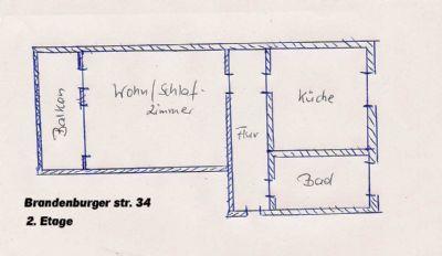1-Zi.-Wohnung in Riesa zu vermieten