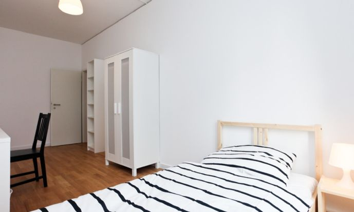 Modernes Zimmer in einer neu errichteten WG Wohnung