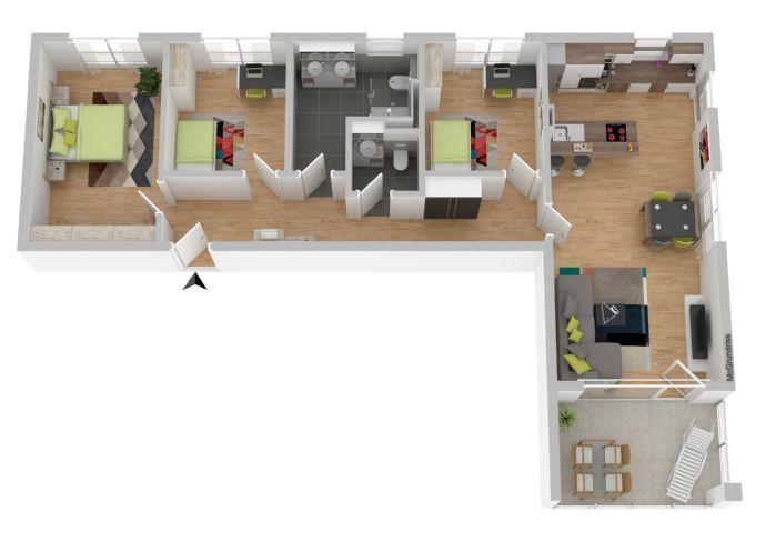 4,5 Zi.-Stadtwohnung in ruhiger, zentraler  Lage in Mössingen, alters- u. familiengerecht