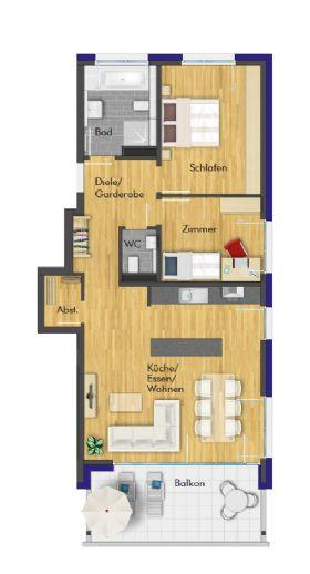 Tolle 3-Zimmer-Neubau Wohnung im 1.OG mit gehobener Ausstattung - Erstbezug