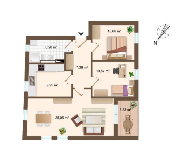 KfW 40 Neubau !!! Schicke, topmoderne 3-Zimmer Wohnung !