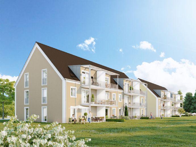 Erstbezug: attraktive 2-Zimmer-OG-Wohnung mit Balkon in Niederaichbach