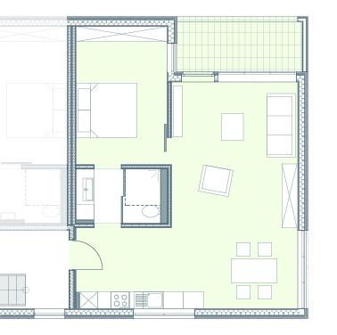 2-Zimmer-Whg. in Bittenbrunn mit Einbauküche