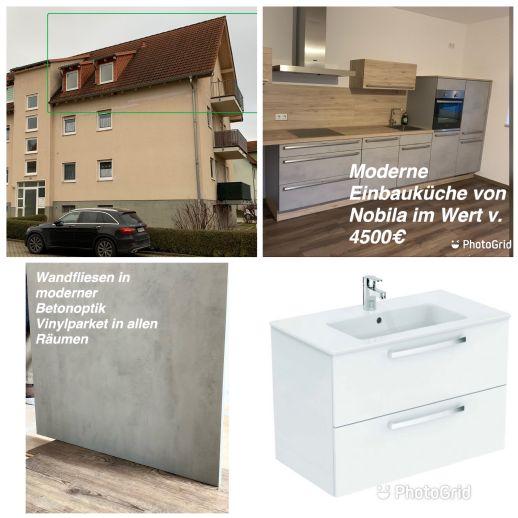 Tolle 2-Zimmer-Wohnung m. Einbauküche - Erst-Bezug n. Sanierung Am Erfurter Kreuz /Arnstadt