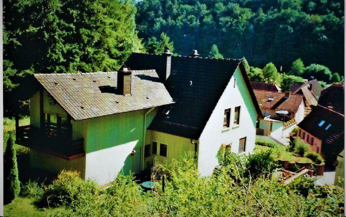 Unter den Rappenfelsen! Herrliche, ruhige Waldrandlage - ein sehr gepflegtes 2 Familienhaus
