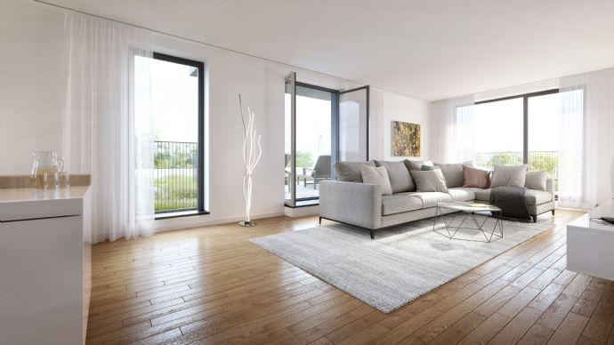 Raffiniert geschnitten: Helle 4-Zimmer-Wohnung im 3. OG mit Westbalkon - 2 Bäder - Vis-à-vis Schloßpark Nymphenburg - (534)