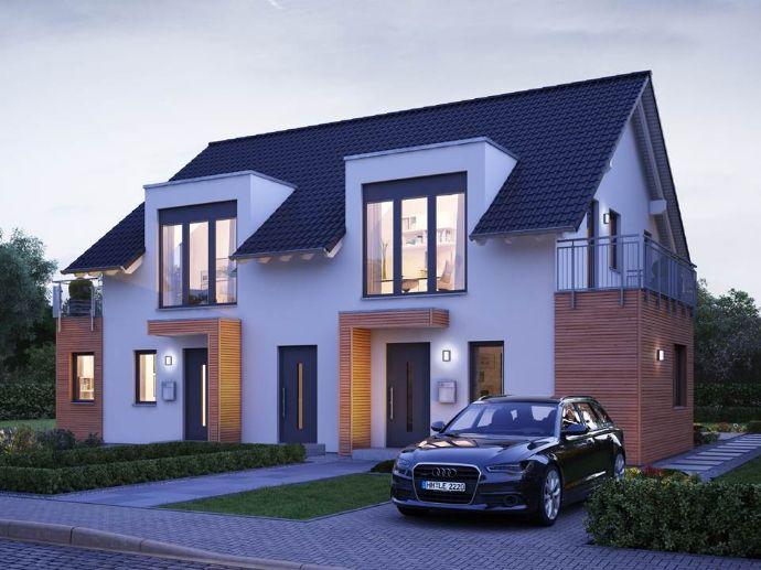 Doppelhaushälfte individuell geplant - auf exklusivem Grundstück!