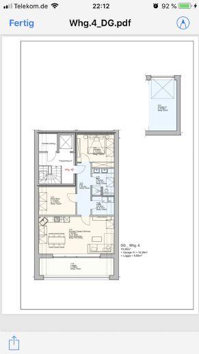 Helle 3 Zimmer Wohnung 71qm im Dachgeschoss mit tollem Balkon 13qm