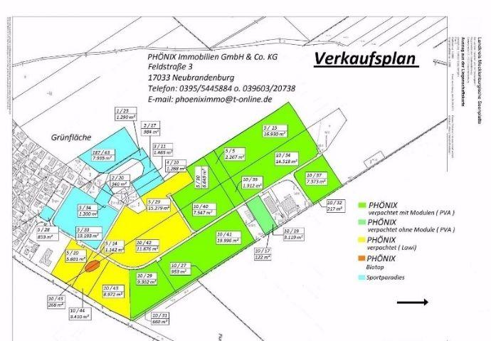 Preisgünstige gewerbliche Baugrundstücke im GG NORD, Burg Stargard