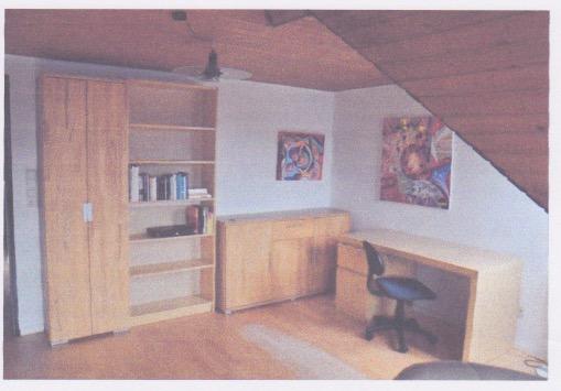 Helle Ein-Zimmer-Dachgeschoss-Wohnung Mit Holzverschalten