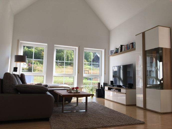 Helle und große Wohnung mit Balkon und Einbauküche